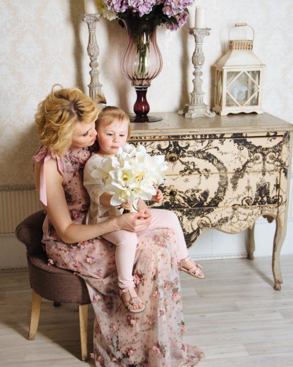 Татьяна Карпова с дочкой