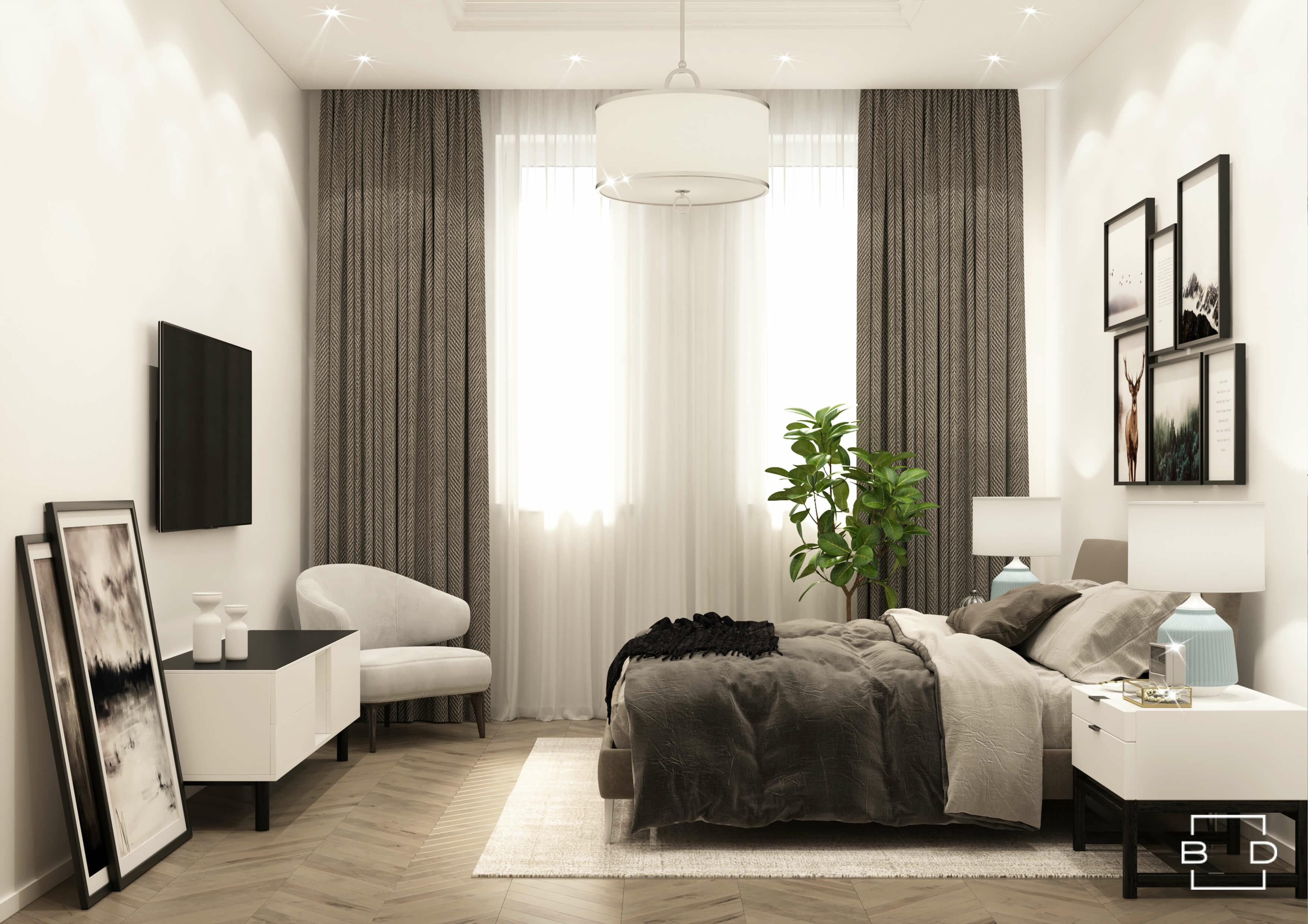 Как организовать освещение в спальне